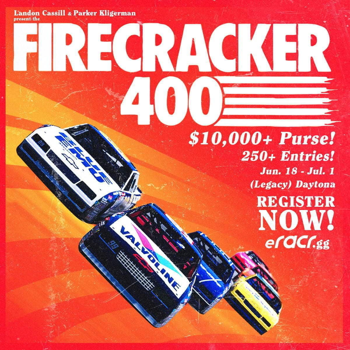 Landon Cassill and Parker Kligerman Present:  The Firecracker 400 – Entry Pool Increased